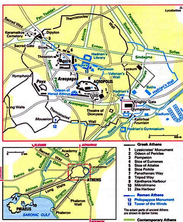 Контурная до карта афины 5-4 вв в решебник н.э